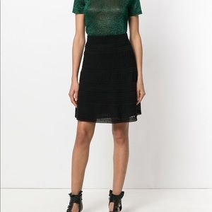 M Missoni Black A Line Cotton Blend Mini Skirt